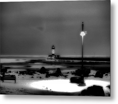 Lighthouse Canal Park Metal Print by Jimmy Ostgard
