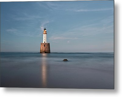 Metal Print featuring the photograph Lighthouse Twilight by Grant Glendinning