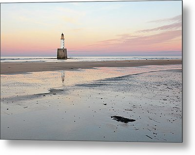Metal Print featuring the photograph Lighthouse Sunset - Rattray Head by Grant Glendinning
