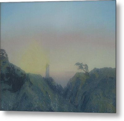 Lighthouse Metal Print by Rebecca  Fitchett