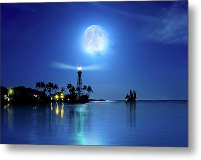 Lighting The Lighthouse Metal Print