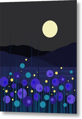 Lightning Bugs Metal Print by Val Arie