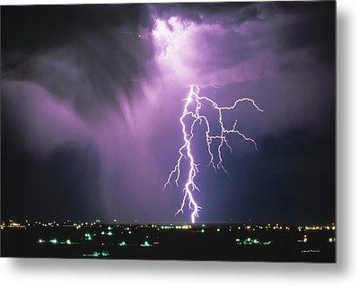 Lightning Storm Metal Print by Leland D Howard