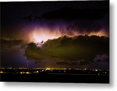 Lightning Thunderstorm Cloud Burst Metal Print by James BO  Insogna