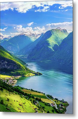 Metal Print featuring the photograph Lights And Shadows Of Sognefjord by Dmytro Korol