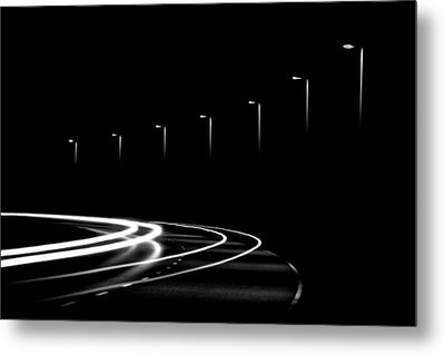 Lights In The Night Metal Print by Gert Lavsen