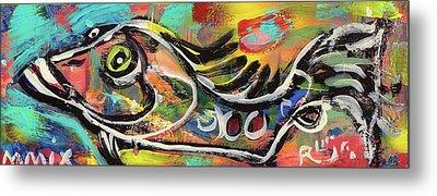 Lil Funky Folk Fish Number Eleven Metal Print by Robert Wolverton Jr