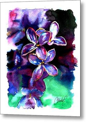 Lilac Blossom Metal Print by Christy  Freeman