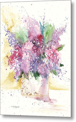 Lilac Explosion Metal Print by Sandra Strohschein