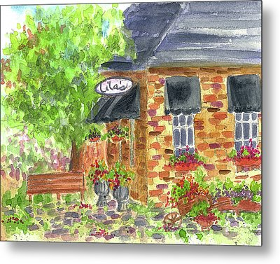 Metal Print featuring the painting Lila's Cafe by Cathie Richardson