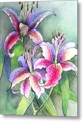 Lilies Metal Print by Khromykh Natalia