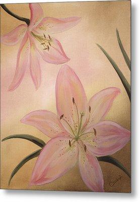 Lilies Part1 Metal Print