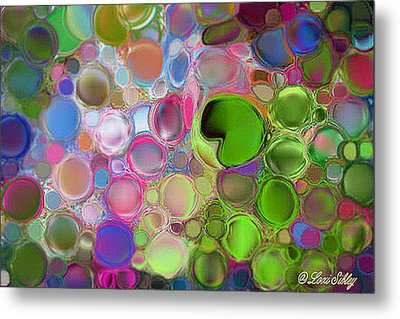 Metal Print featuring the digital art Lilly Pond by Loxi Sibley