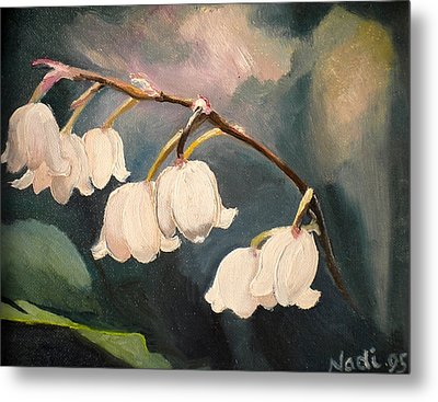 Lily Whites Metal Print by Renate Nadi Wesley