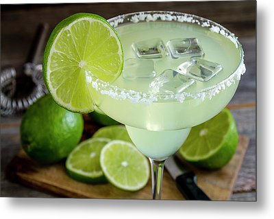 Metal Print featuring the photograph Lime Margarita Drink by Teri Virbickis