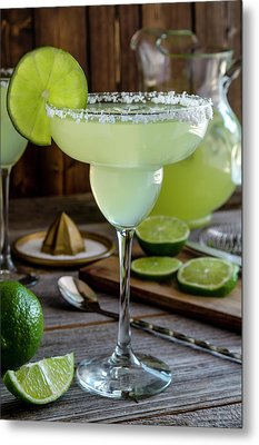 Metal Print featuring the photograph Lime Margaritas by Teri Virbickis