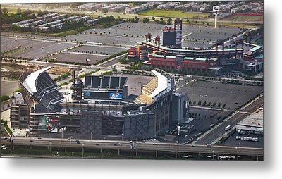 Lincoln Financial Field And Citizens Bank Park Metal Print by Bill Cannon