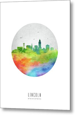 Lincoln Skyline Usneli20 Metal Print