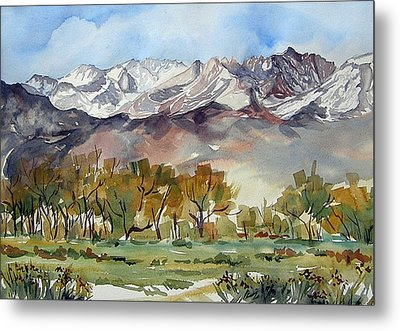 Metal Print featuring the painting Linda's View by Pat Crowther