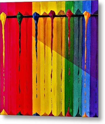 Line Of Fall Colors Metal Print