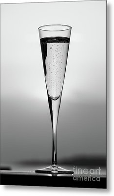 Lines And Bubbles Metal Print