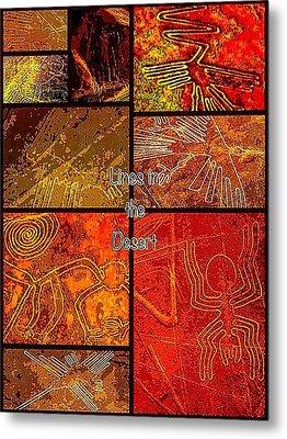 Lines In The Desert Metal Print