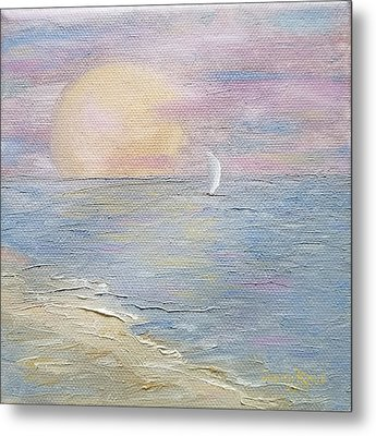 Metal Print featuring the painting Lingering Freedom by Judith Rhue