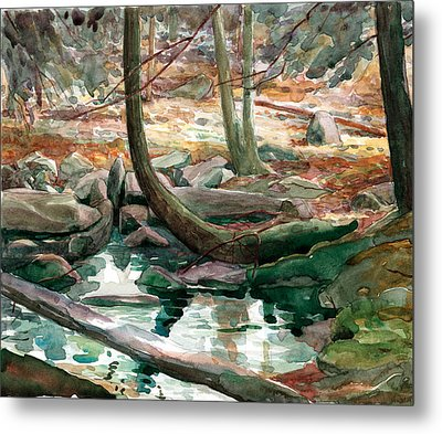 Lingle Stream Metal Print by Jeff Mathison