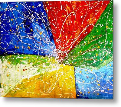Metal Print featuring the painting Linkz by Piety Dsilva