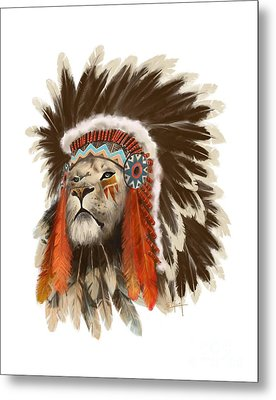 Lion Chief Metal Print by Sassan Filsoof