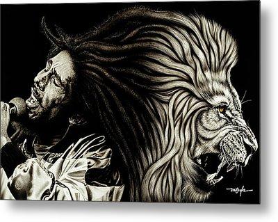 Lion Heart -bob Marley Metal Print