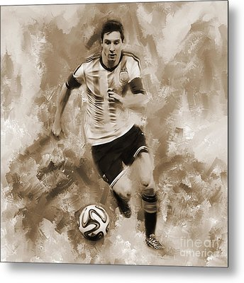 Lionel Messi 094f Metal Print by Gull G