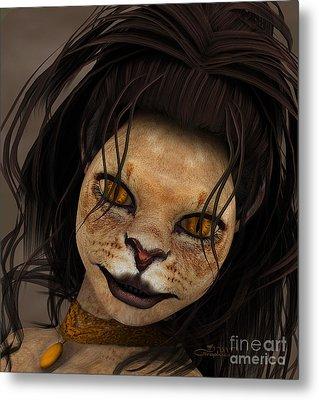 Lioness Metal Print by Jutta Maria Pusl