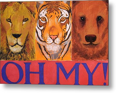 Lions And Tigers And Bears Metal Print by Mary McInnis