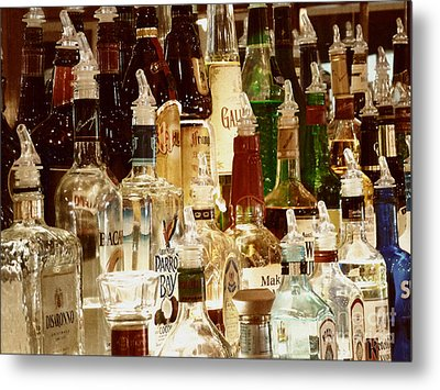 Liquor Bottles Metal Print by Methune Hively
