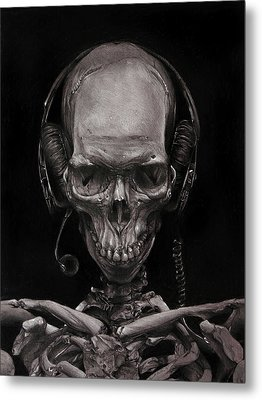Listen 17 - Self Portrait 41,  Dec 2016 Metal Print