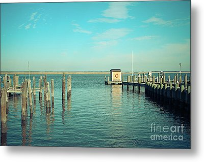 Little Boat House On The River Metal Print by Colleen Kammerer