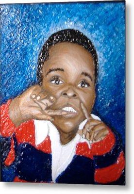 Little Boy Blue  Metal Print by Keenya  Woods