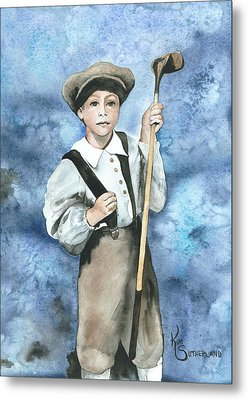 Little Caddy Metal Print