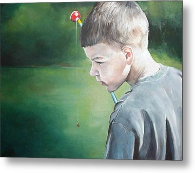 Little Fisherman Metal Print