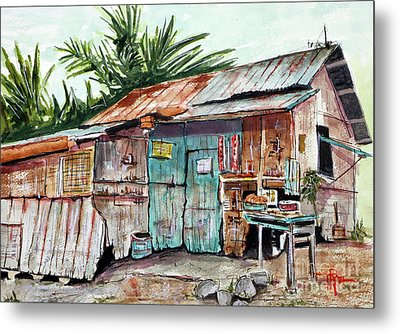 Old Shack Out Back Metal Print by Tim Ross