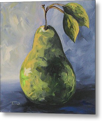 Little Green Pear Metal Print by Torrie Smiley