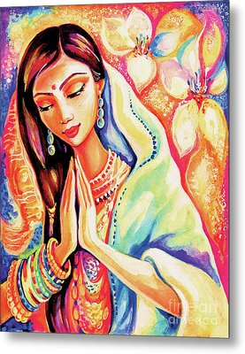 Metal Print featuring the painting Little Himalayan Pray by Eva Campbell
