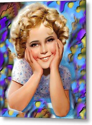 Little Miss Shirley Metal Print