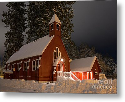 Little Red Church Metal Print by Idaho Scenic Images Linda Lantzy