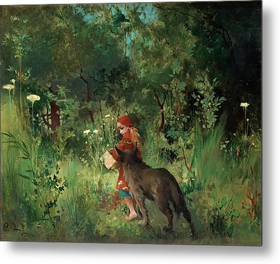 Little Red Riding Hood Metal Print by Mountain Dreams