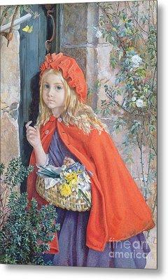 Little Red Riding Hood Metal Print by Isabel Oakley Naftel