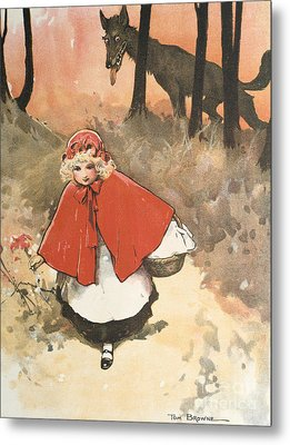 Little Red Riding Hood Metal Print by Tom Browne