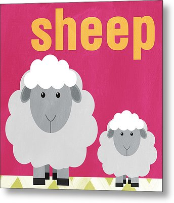Little Sheep Metal Print by Linda Woods