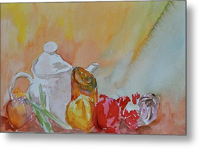 Metal Print featuring the painting Little Still Life by Beverley Harper Tinsley